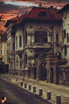 Old Bucharest, Vila Vasile Zottu, Nicolae Golescu st . Places Around The World, Around The Worlds, Places To Travel, Places To Visit, Romania Travel, Little Paris, Bucharest Romania, Beautiful Buildings, Eastern Europe
