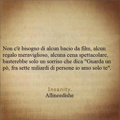 Quotes, aforismi, frasi di vita. Words Quotes, Love Quotes, Sayings, Inspirational Quotes, Fear Of Love, Love You, Italian Quotes, Tumblr Quotes, Meaning Of Life