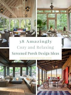 38 Amazingly cozy and relaxing screened porch design ideas Have a look at some incredible inspiration on turning your porch into an attractive, livable and usable space by making it a screened porch. Screened Porch Designs, Screened Porch Decorating, Screened In Porch, Porch Swing, Swing Beds, Pergola Designs, Front Porches, Texas Hill Country, Porch Kits
