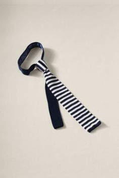 I love knit ties, but many of them seem better suited to the colder months.  The bright stripes on this one fix all that.  Men's Silk Knit Striped Tie  from Lands' End Canvas #landsendcanvas