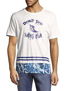 Robert Graham Dead Sea Surfer Cotton Tee - White - Size