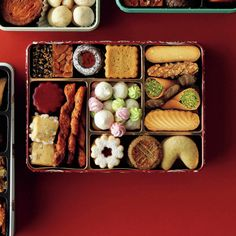 Snack Recipes, Dessert Recipes, Snacks, Japanese Food, Japanese Art, Cookie Box, Fancy Desserts, Snack Box, Food Design