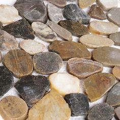 Islander Flooring Random Sized Natural Stone Pebble Tile in Sienna & Reviews   Wayfair