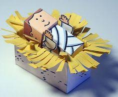Paper nativity scene. So fun to make!