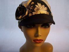 #Cap #Black #White #hat #handmade #thecraftstar $35.00