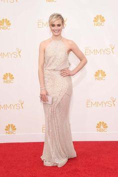 Premios Emmy 2014: Taylor Schilling lleva un nude de Zuhair Murad.