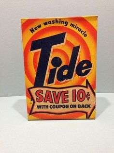 Vitage Laundry Detergent | VINTAGE TIDE LAUNDRY SOAP DETERGENT IN ORIGINAL UNOPENED BOX used, new ...