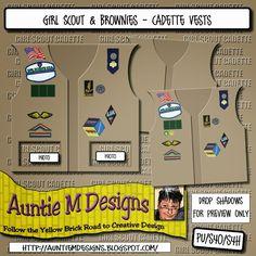 Auntie M Designs: Cadette Scouts