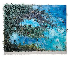 A. Gesner creates these intricate paintings involving texture created with rolled up paper.