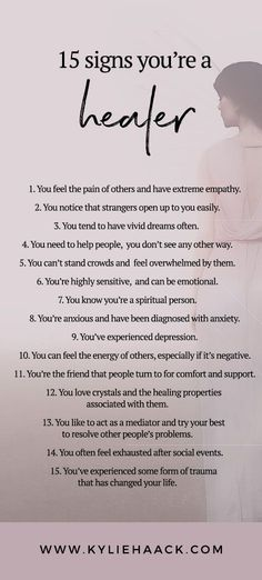 15 signs you're a healer! healer, healing, spirituality, spirit, soul, positivity, self care, self love, self development, psychology, personal growth, personal development, anxiety, depression, free resources, guides, workbook, inspiration, self help,, growth, meditation, sensitivity, empath, empathy, to do, depression, pain, trauma, ptsd, stress, introvert, sensitivity, enery, vibrations, high vibe