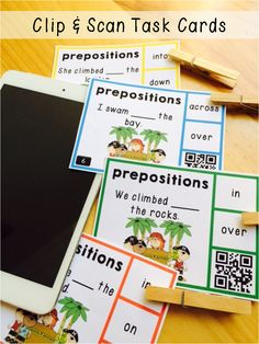 90 best technology qr codes images on pinterest classroom ideas here are task cards with a twist choose the correct preposition by clipping the answer fandeluxe Image collections