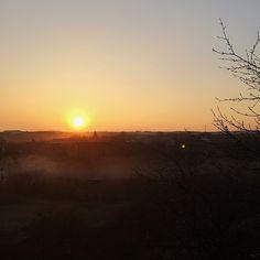 78/365 Sunset with smoke