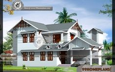 Simple Home Design with Kerala Traditional 2 Level Modern Home Plans By Leading Architects & Engineers Best Small House Designs, Best Modern House Design, Duplex House Design, Simple House Design, Modern House Plans, Small House Plans, Home Design Images, House Design Pictures, Beautiful House Images