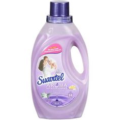 suavitel fabric softener- soothing lavender scent.  smells so good and the scent lingers after washing.
