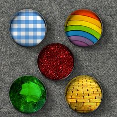 Wizard of Oz Inspired Glass Bubble Magnets - Set of 5 Magnets