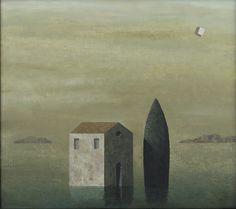 Matthias Brandes, Solitudine 1, oil and tempera on canvas, 80 x 90 cm #contemporary #art #painting