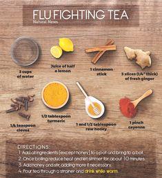 Natural flu-fighting tea recipe