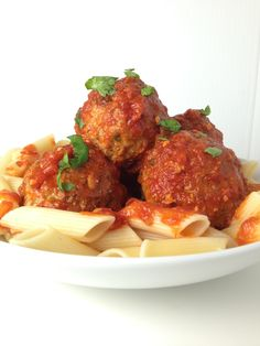 Sicilian Meatballs so delicious and a nice twist on a fabulous classic! From Italy