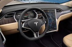 Tesla Model S Dashboard - Supercharger: Drive for Free, Forever, On Sunlight