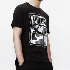 6d62d7e9ff36 Spring Summer 2018 Buy PUMA Short T-Shirt Odell Black M-4XL 2018 PUMA New  Style Clothing