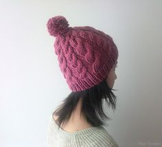 Sale 15 OFF  Hand Knitted Cable Chunky Beanie in by naryaboutique, $24.25