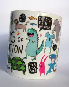 Le Mug de Motivation par KatieAbeyDesign sur Etsy