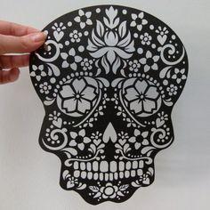 Paper Cut Sugar Skull Unframed | wowthankyou.co.uk