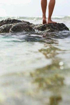 Rock pool paddling