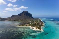 La 'Cascada Submarina', ilusión óptica en la Isla Mauricio