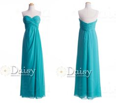 Sweetheart Neckline Teal Bridesmaids by DaisyBridalHouse on Etsy, $107.00