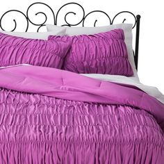 Xhilaration™ Ruched Textured Comforter Set - Orchid