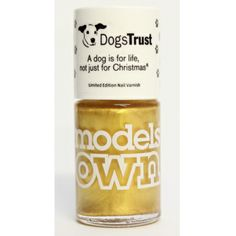 "It's probably one of the more unusual partnerships we've heard of; the charity Dogs Trust has teamed up with Models Own to create a limited edition nail polish for Christmas.   The '25 Carat Gold' shade reflects the colour of their logo and has been designed to celebrate 35 years of their slogan ""A dog is for life, not just for Christmas"". The bottle costs £5.50 (allow £1 for P&P) and is available from the Dogs Trust website, with all proceeds going towards the charity. dog trust, christma"