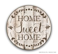 Round wooden sign 12 round signs Home sweet by DesignHouseDecor