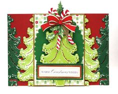 Holiday Traditions Card Kit Giveaway #1   Anna's Blog - made with Anna Griffin Cuttlebug Christmas Folders and Dies (at HSN.com) on white core paper, lightly sanded.