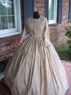 100% cotton Civil War Dress
