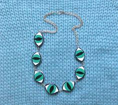 SEVEN Eye Necklace -- Evil Eye Protective Charm Necklace