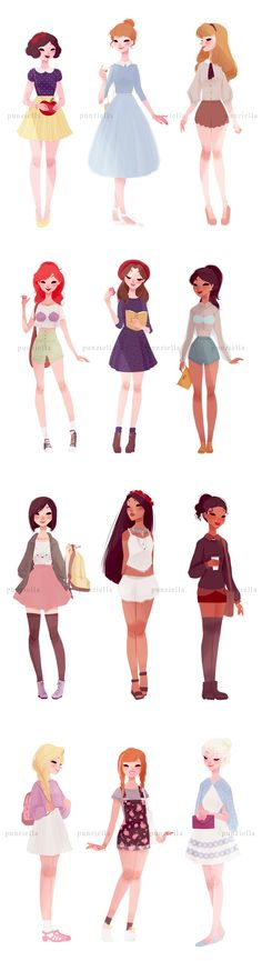 Disney princesses #casual