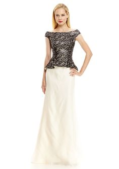 On ideel: KAY UNGER Blouson Sequin Bodice Gown