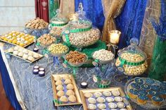 Rich jewel tone colors for an Indian Lohri event dessert bar !  Custom Dessert Bar styled by Ganache. Like us at www.facebook.com/styledbyganache