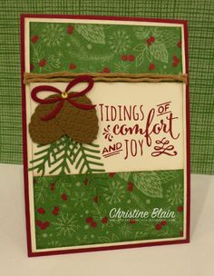 "HAPPY HEART CARDS: STAMPIN' UP! ""THIS CHRISTMAS"" CARD 2"