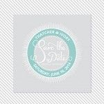 Badge Printable Save the Date | a part of the Badge Printable Wedding Invitation Suite from Caroline Fausel Paper Co.