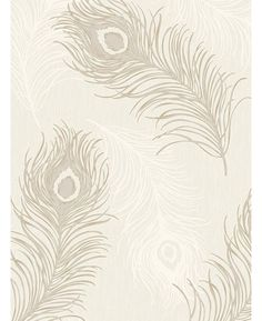 Viola Feather Blown Vinyl Wallpaper - Taupe and Cream - 40913