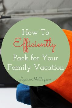 These tips are great for keeping packing woes to a minimum!