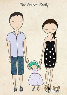 A family portrait by the very talented 'Blanka Biernat Photography and illustration'