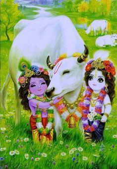 Bal krishna with balram Hare Krishna, Krishna Leela, Krishna Radha, Little Krishna, Krishna Love, Lord Krishna Images, Radha Krishna Pictures, Hanuman Images, Bal Gopal