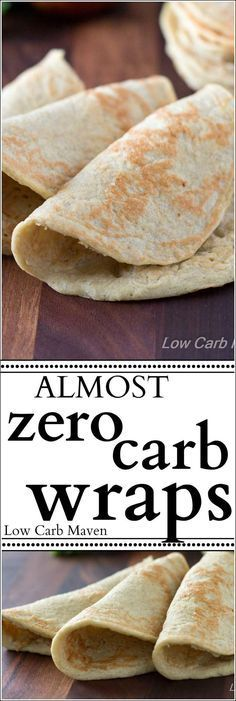 Almost Zero Carb Wraps are great as soft tortilla shells or as sandwich wraps…
