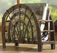 Shop for beautiful rustic accent furniture, including willow twig furniture, moose & bear tables, and more, at Black Forest Decor today! Willow Furniture, Rustic Wood Furniture, Western Furniture, Natural Furniture, Twig Art, Twig Crafts, Sticks Furniture, Black Forest Decor, Bent Wood