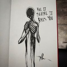 imagen relacionada my shit dark art, creepy Creepy Drawings, Dark Drawings, Creepy Art, Cool Drawings, Creepy Sketches, Scary, Depression Illustration, Depression Art, Arte Obscura