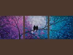 So cute, like love birds. Sold by QiQi Gallery on Etsy.