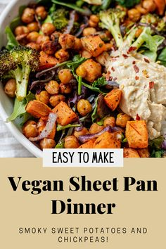 Quick Dinner Recipes, Vegan Recipes Easy, Vegan Sweet Potato Recipes, Chickpea Recipes, Easy Meal Prep, Easy Weeknight Meals, Fast Meals, Vegetarian Entrees, Vegan Dinners